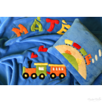 Vonatos gyerektakaró - névvel